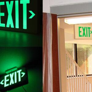 LED EXIT & EMERGENCY LIGHT (1700)